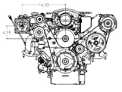 LSx    Engine    Swap AC Relocation Bracket  CPW   LSX Harness