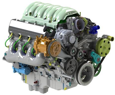 AC, alternator, PS bracket for LT truck L83 L86 engines